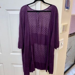 torrid Sweaters - Torrid plus size purple cardigan size 5